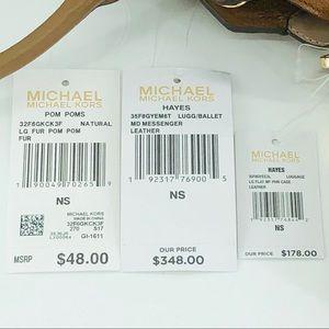 Michael Kors Bags - 3PCS Michael Kors Hayes MD Messenger Wallet Charms